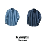 Long Sleeve Denim Shirt for Young Life-Port & Company®