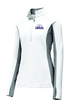 CHCA Softball-Ladies Sport-Tek® Sport-Wick® Stretch Contrast 1/2-Zip Pullover