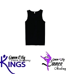 Queen City Dance Academy-Anvil - Lightweight Fashion Tank in Black