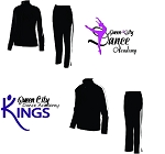 Queen City Dance Academy-Augusta Medalist Combo ( Jacket & Pant in Black & White)-COMPANY ONLY