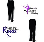 Queen City Dance Academy-Augusta Medalist Pant 2.0 in Black & White-COMPANY ONLY