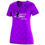 Queen City Dance Academy-Wicking T-Shirt in Power Pink-Ladies and Girls