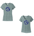 FourSeven-Women's District ® Perfect Tri ® Tee in Grey Frost