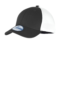 Stretch Mesh Cap by New Era in Black & White-Youth & Adult-Miami Hills Swim & Dive