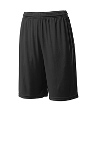PosiCharge® Competitor™ Pocketed Short in Black by Sport-Tek® -IntentCity Athletics