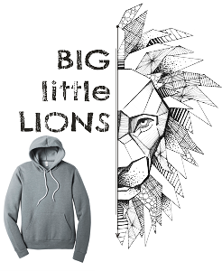 Unisex Hoodie by Bella & Canvas-Big Little Lions