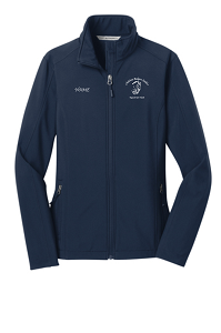 Ladies Core Soft Shell Jacket by Port Authority® in Dress Blue Navy-Childress Rodgers Stables