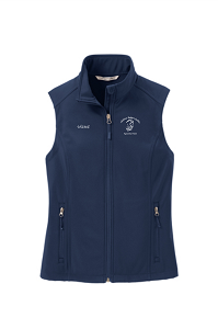 Vest Ladies Core Soft Shell  by Port Authority® in Dress Blue Navy-Childress Rodgers Stables