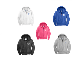 Full Zip Hooded Sweatshirt by Port & Company-Unisex & Youth-Covedale Elementary