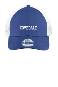 Mesh Back Stretch Hat in Royal by New Era-Youth & Adult-Covedale Elementary