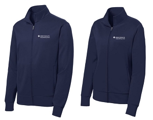 Fleece Full-Zip Jacket Sport-Wick® by Sport-Tek® in Navy-Mercy Family Birthing Center