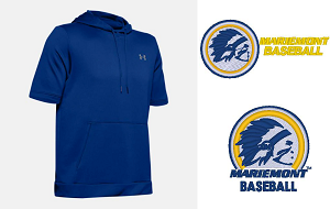 -Under Armour Utility Cage Hoodie Threat-Mariemont Baseball