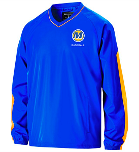 *REQUIRED*Holloway Bionic Windshirt in Royal/Gold-Mariemont Baseball