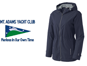 Ladies Northwest Slicker in Navy by Port Authority® - Mt. Adams Yacht Club