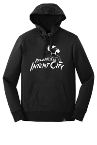 French Terry Pullover Hoodie in Black by New Era®-IntentCity Athletics