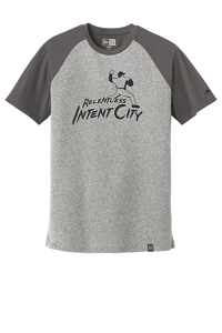 Heritage Blend Varsity Tee in Graphite/Light Graphite Twist by New Era®-IntentCity Athletics