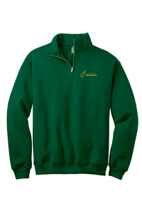 Unisex 1/4 Zip Sweatshirt in Forest Green by Port & Company-SHS Orchestra