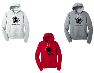 Unisex Sponge Fleece Pullover Hoodie by BELLA+CANVAS ®-St. James