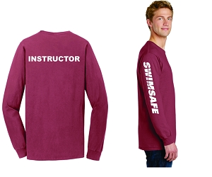 SwimSafe-Port & Company® Pigment-Dyed Long Sleeve Tee-INSTRUCTOR
