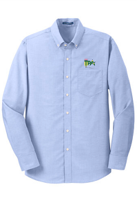 Unisex SuperPro™ Oxford Shirt by Port Authority®  in Oxford Blue-Sycamore TPA