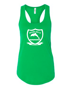 Women's Tank in Kelly Green by Next Level-Miami Hills Swim & Dive
