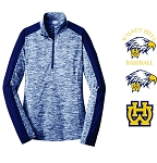 WH Baseball-Sport-Tek® Ladies PosiCharge® Electric Heather Colorblock 1/4-Zip Pullover
